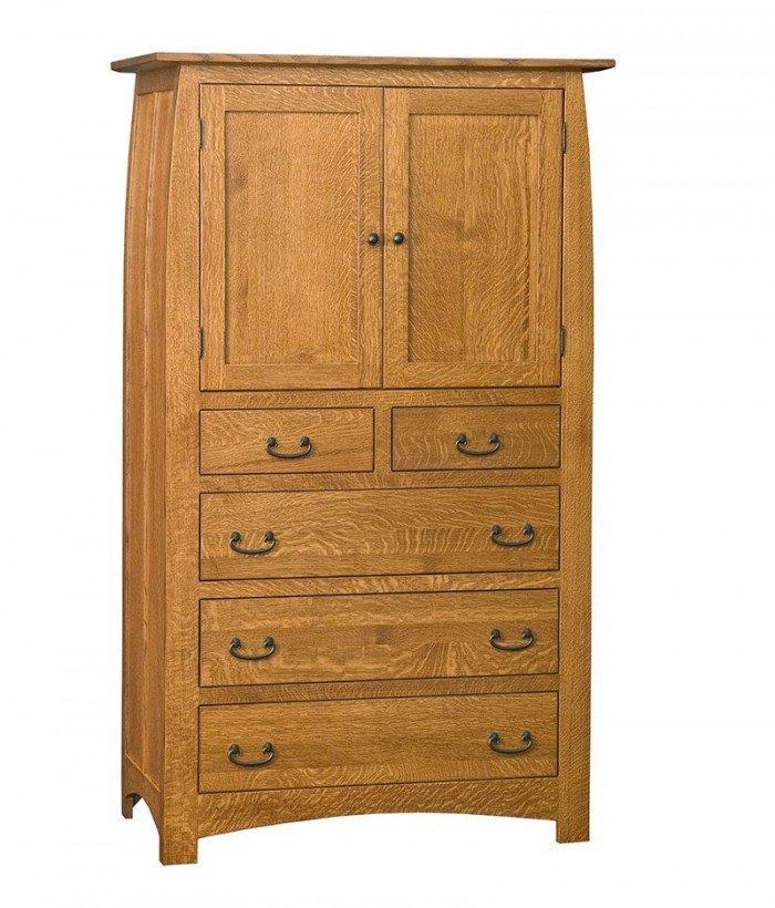 Superior Shaker 5 Drawer 2 Door Armoire