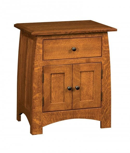Superior Shaker 1 Drawer 2 Door Nightstand