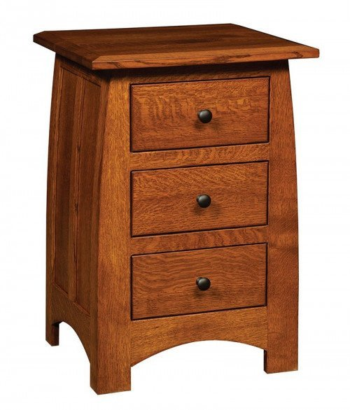 Superior Shaker 3 Drawer Nightstand