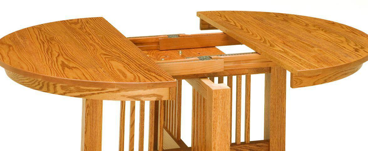 Craftsman Mission Table-Open