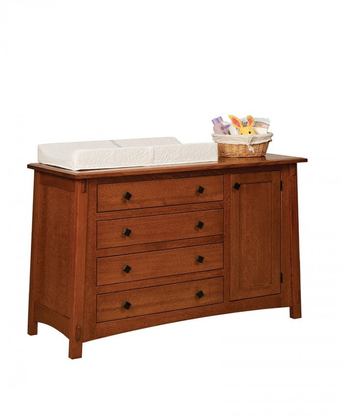 4 Drawer Dresser with Contour Pad
