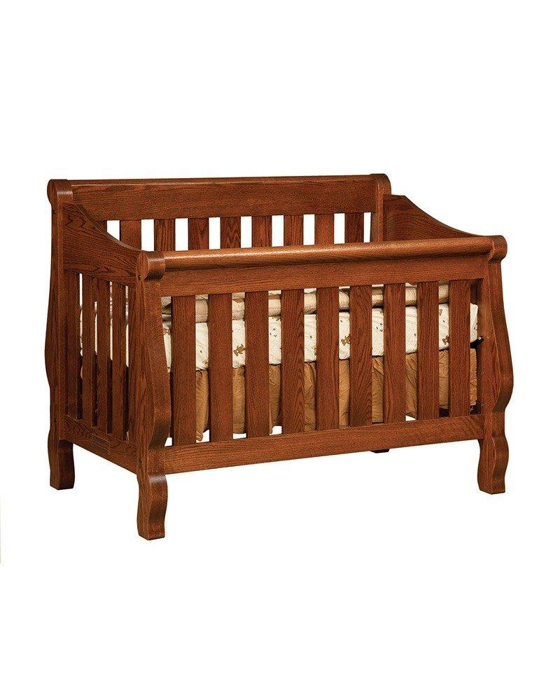 Hoosier Sleigh 3-in-1 Crib
