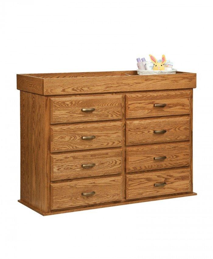 Mission 8 Drawer Reversible Dresser