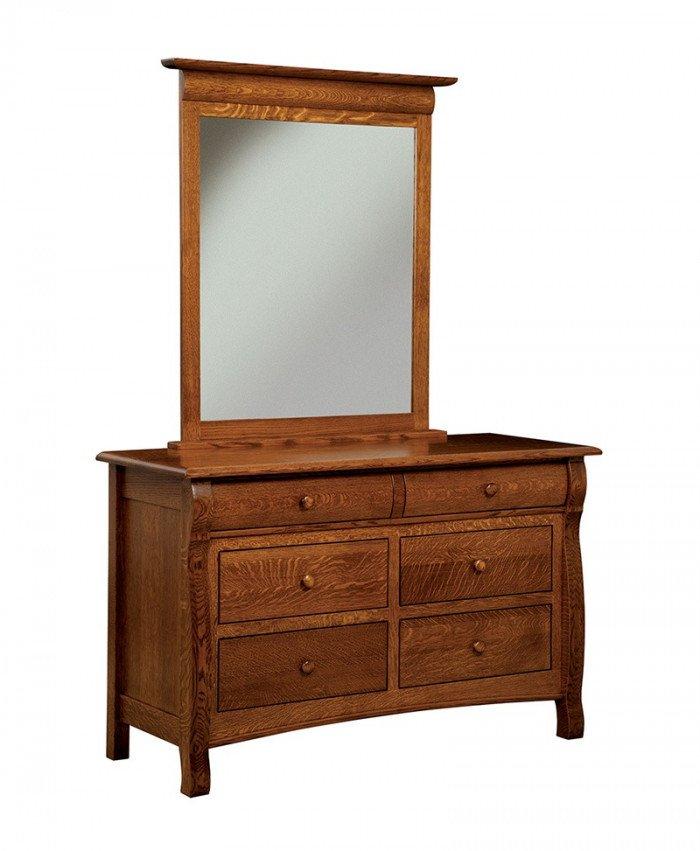 Castlebury 6 Drawer Dresser with Mirror