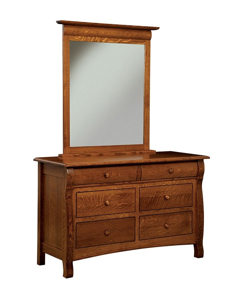 Castlebury 6 Drawer Dresser with Mirror