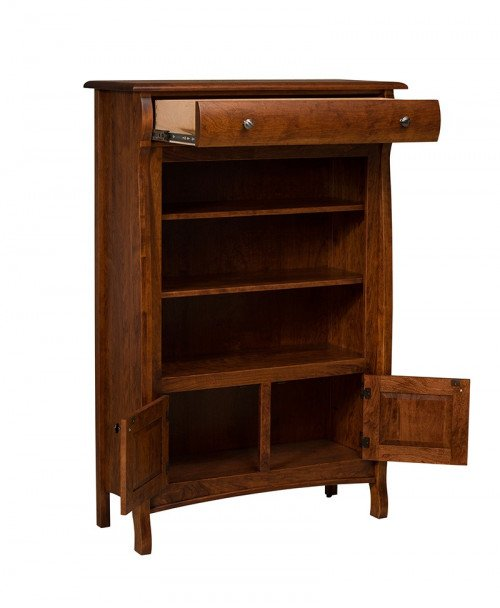 Castlebury Bookcase w/Drawer-Open