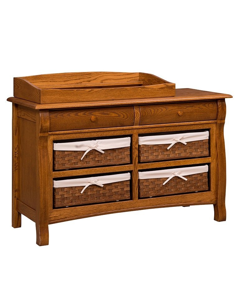 Castlebury 6 Drawer Dresser with Baskets and Top Box