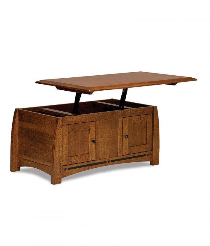 Boulder Creek Enclosed Lift-top Coffee table