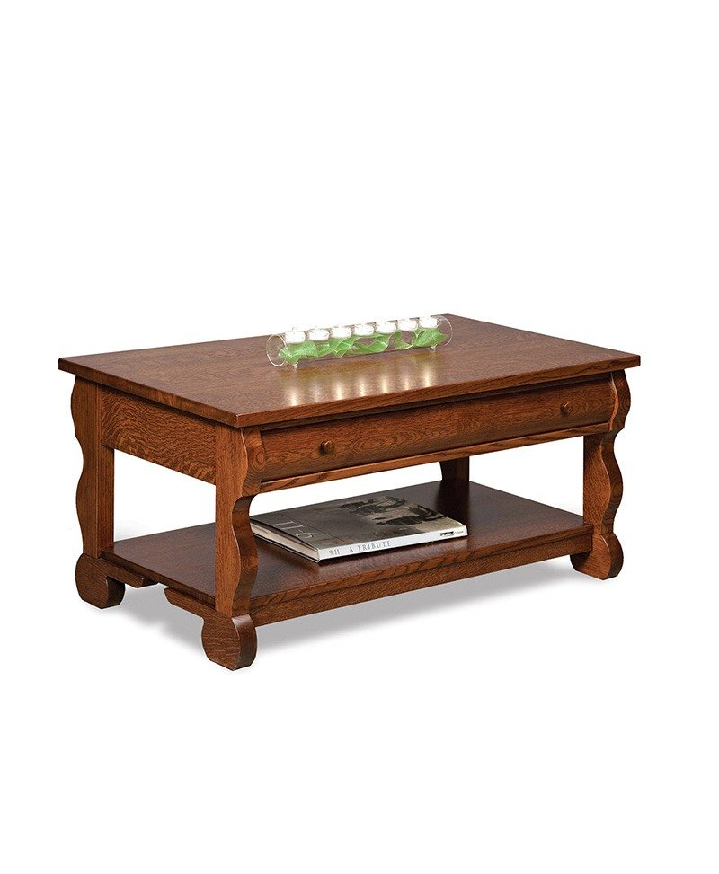 Old Classic Sleigh Coffee table w/drawer