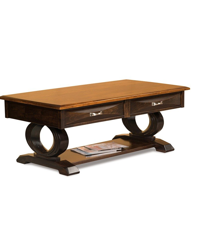 Saratoga Coffee Table W Drawers Deutsch Furniture Haus