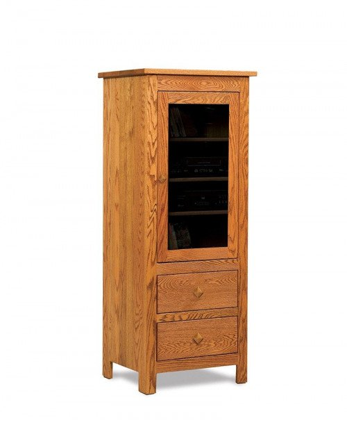 Mission Stereo Cabinet w/1 door, 2 drawers
