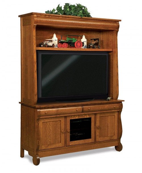 Old Classic Sleigh 3 door, 2 drawer, 2 pc. LCD cabinet