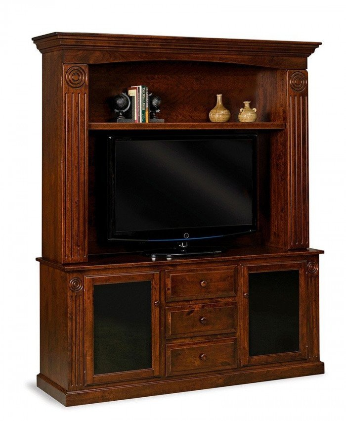 Victorian 2 door, 3 drawer 2 pc. Home Theater Entertainment Center