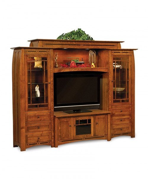Boulder Creek 6 Piece Wall Unit with console