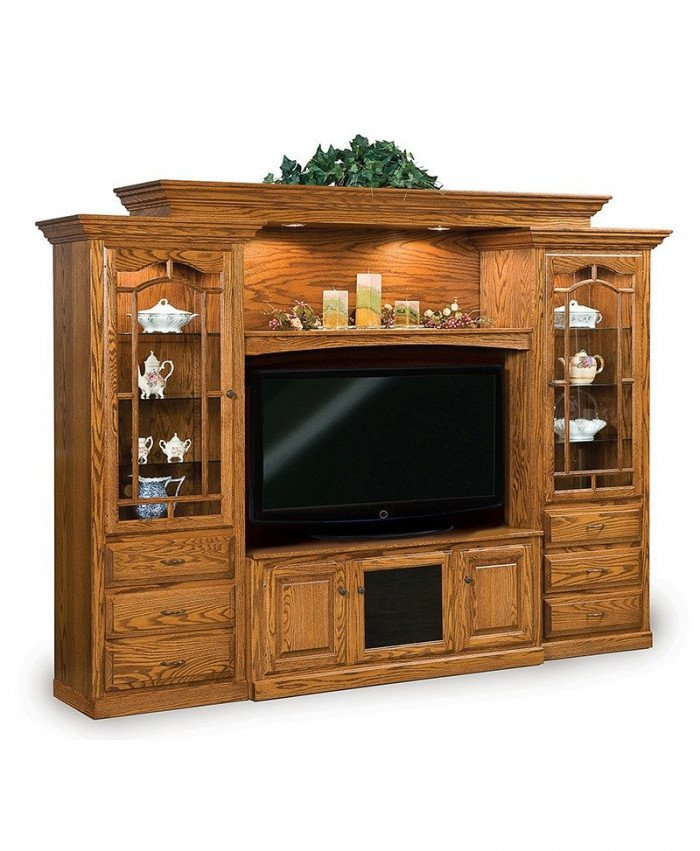 Hoosier Heritage 6 Piece Wall Unit with Console
