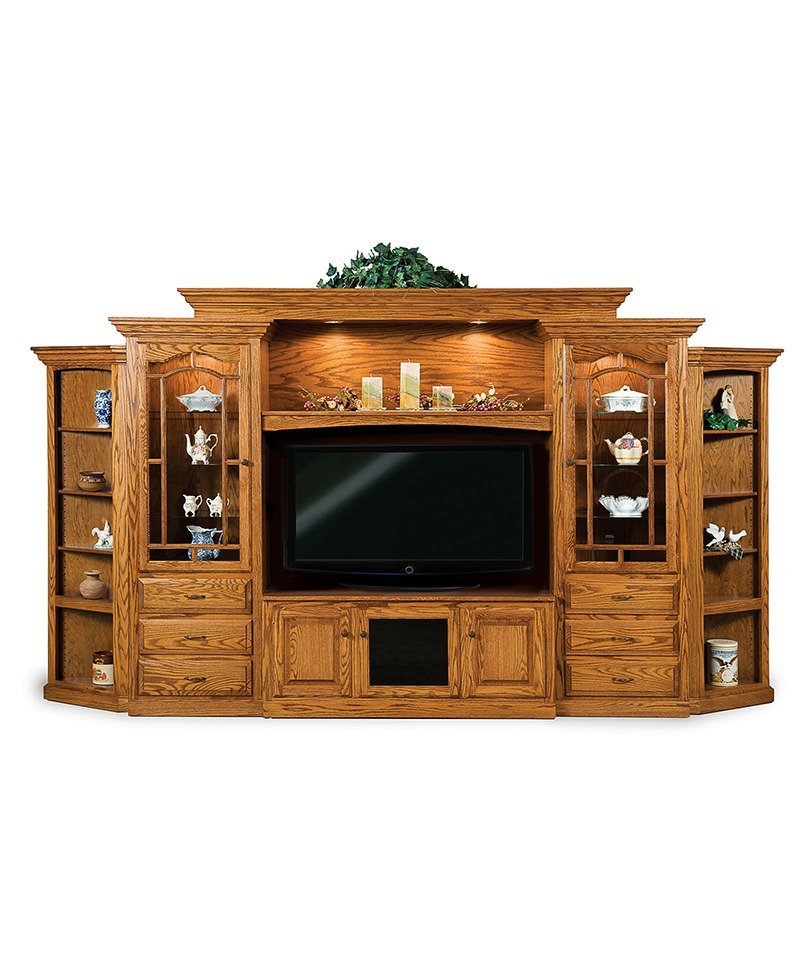 Hoosier Heritage 6 Piece Wall Unit with Side Corner Cabinets