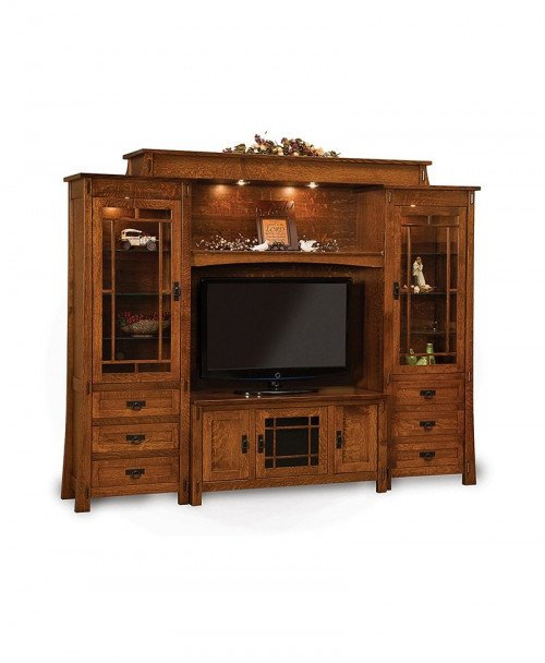 Modesto 6 Piece Wall Unit with console