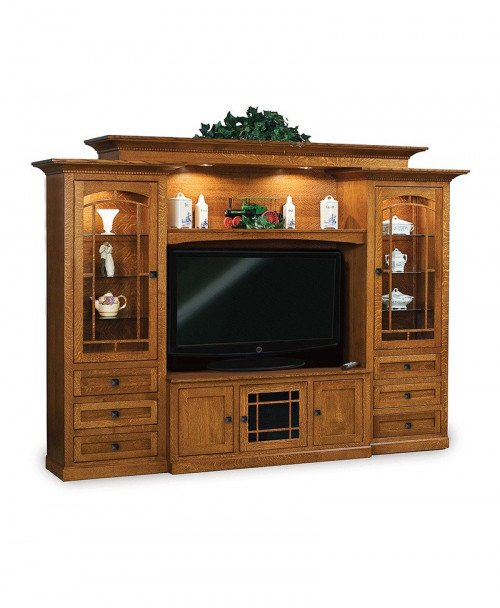 Manhattan Mission 6 Piece Wall Unit with console