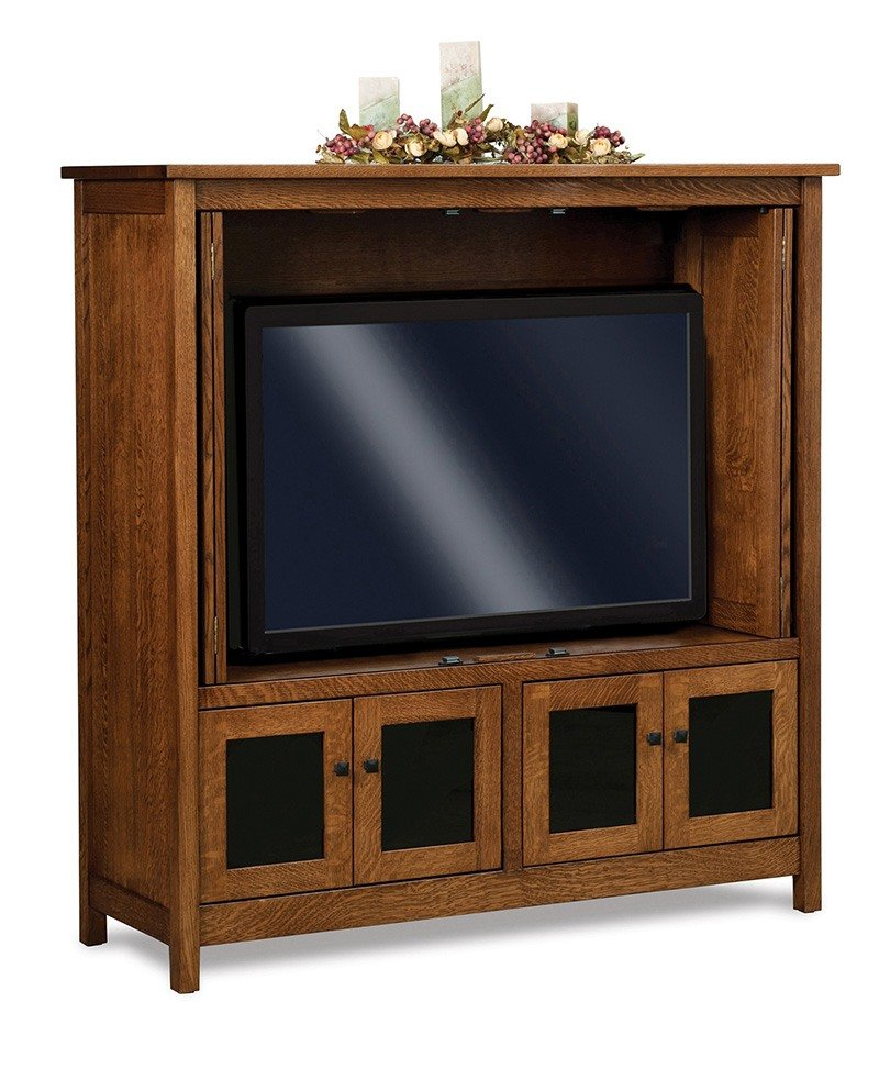 Centennial LCD cabinet w/stereo area below TV area-OPEN