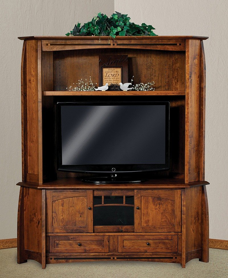 Boulder Creek 2 pc. corner LCD hutch