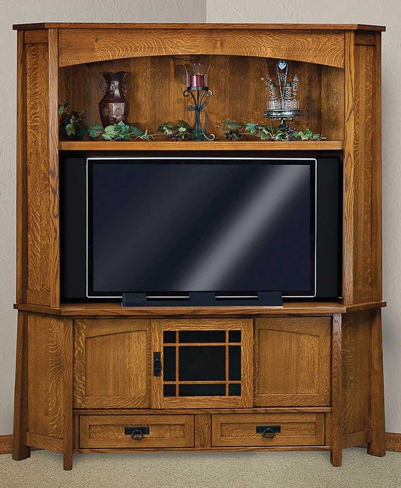 Modesto 2 pc. corner LCD hutch