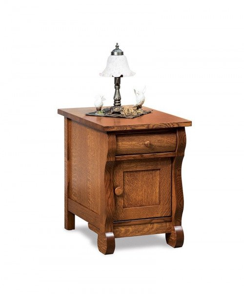 Old Classic Sleigh Enclosed End table