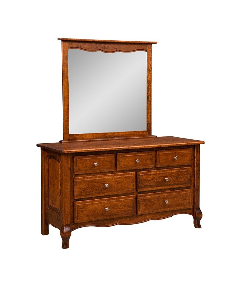 French Country 7 Drawer Dresser with Mirror