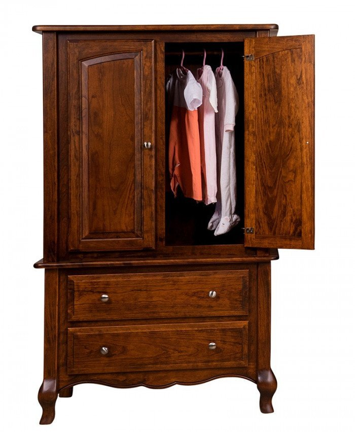 French Country Armoire-Open