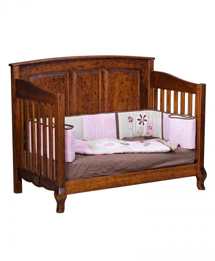 French Country Toddler Bed Conversion Rail