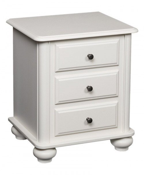 Hampton 3 Drawer Nightstand