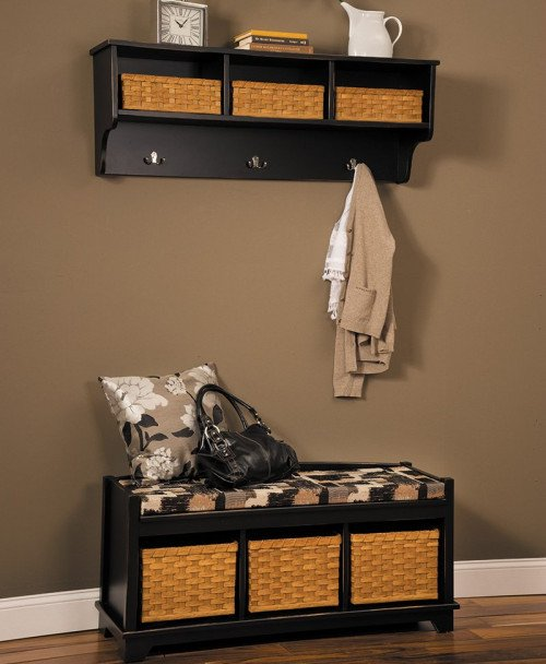 Lattice Weave Cubby Shelf