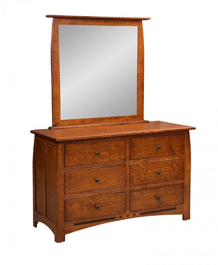 Linbergh 6 Drawer Dresser with Mirror
