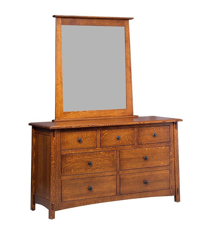 McCoy 7 Drawer Dresser w/o Baskets with Mirror