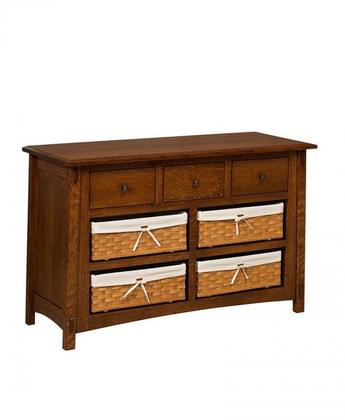 McCoy 7 Drawer Dresser with Baskets