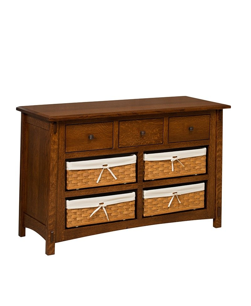 McCoy 7 Drawer Dresser with Baskets