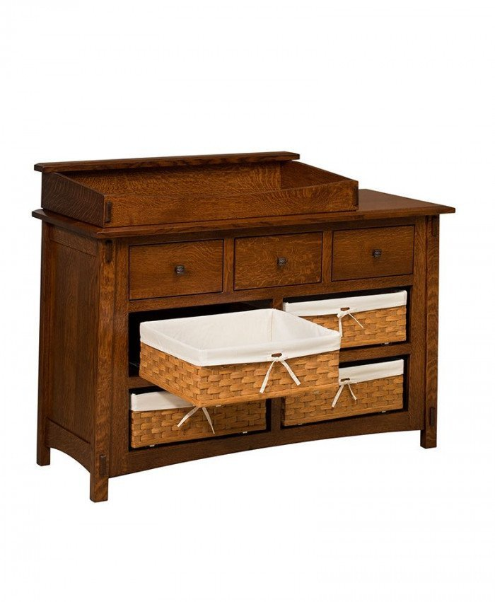 McCoy 7 Drawer Dresser with Baskets and Box Top