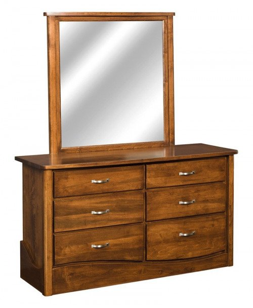 Tanessah 6 Drawer Dresser with Mirror