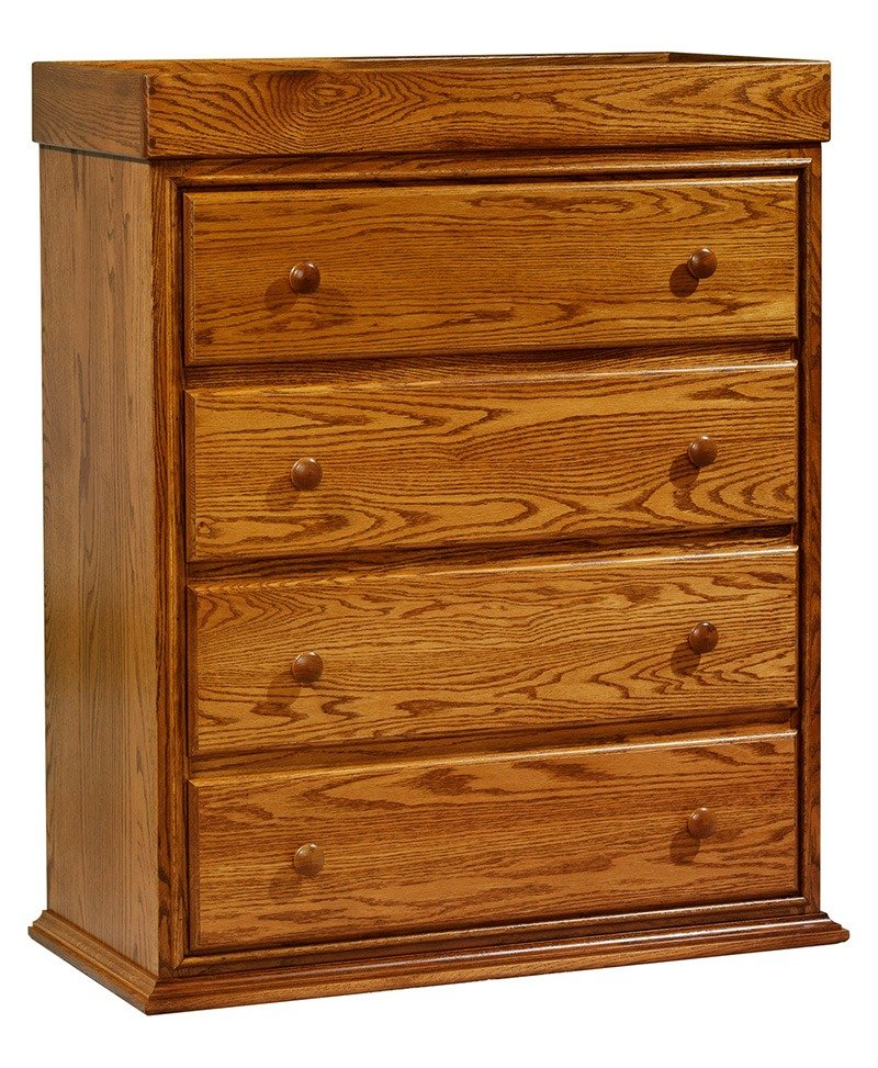 Traditional 4 Drawer Convertible Chest