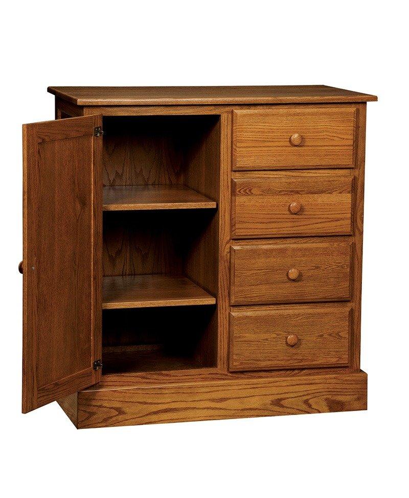 Mission Wardrobe 4 Drawer Dresser-Open