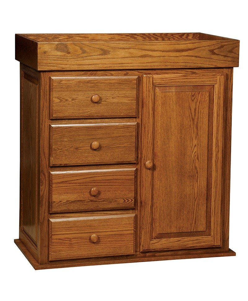 Mission Wardrobe 4 Drawer Dresser-Flipped