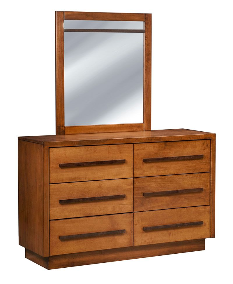 Broadway 6 Drawer Chest with Mirror