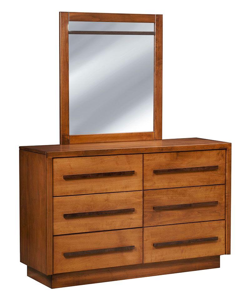 Broadway 6 Drawer Chest With Mirror Deutsch Furniture Haus