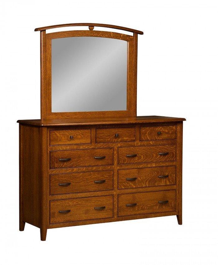 Cascade 9 Drawer Dresser with Mirror