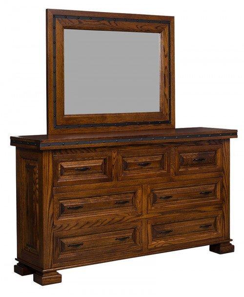 El Paso 7 Drawer Dresser with Mirror