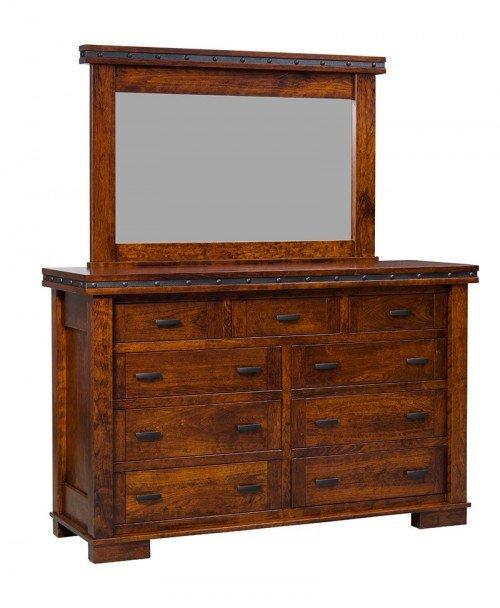 Monta Vista 9 Drawer Dresser with Mirror