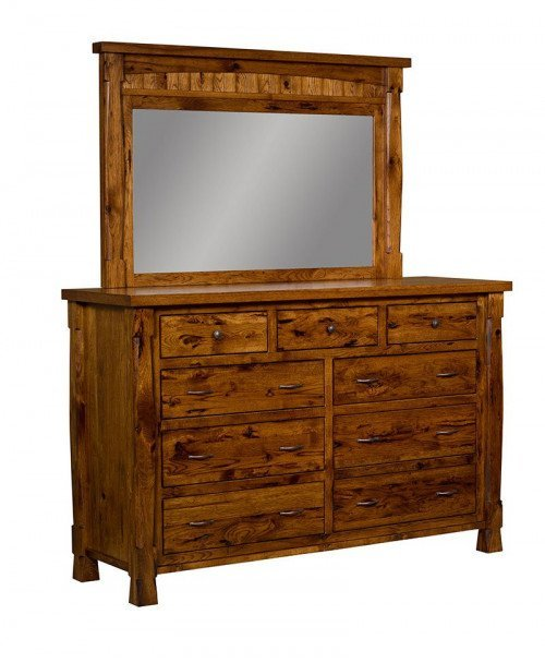 Ouray 9 Drawer Dresser with Mirror