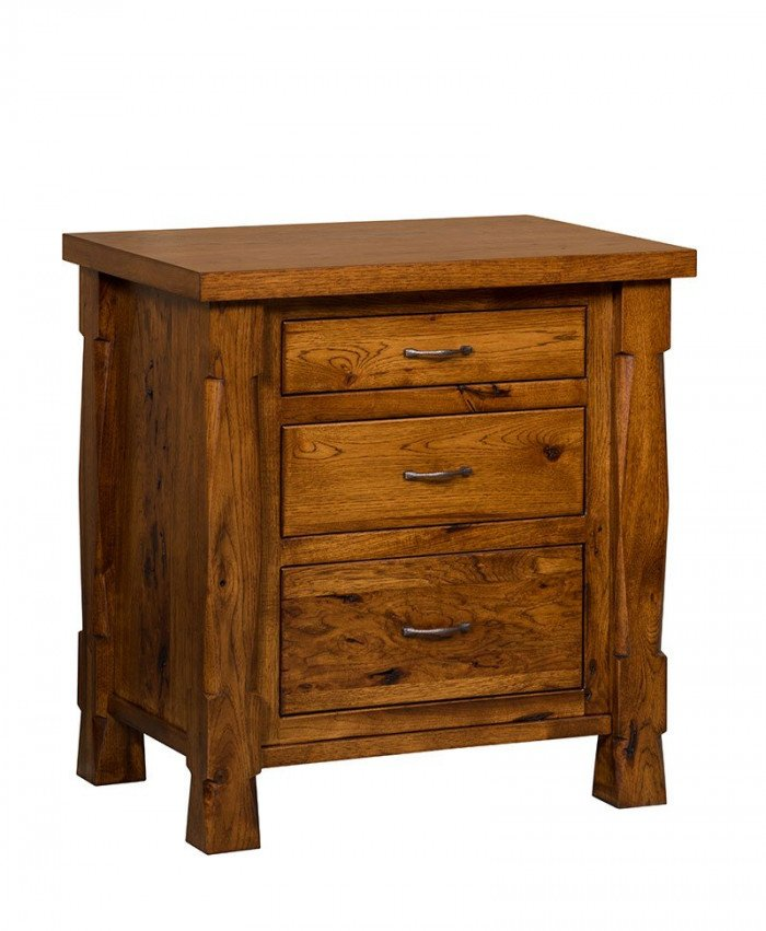 """Ouray 3 Drawer Nightstand 29½"""" - Hickory"""