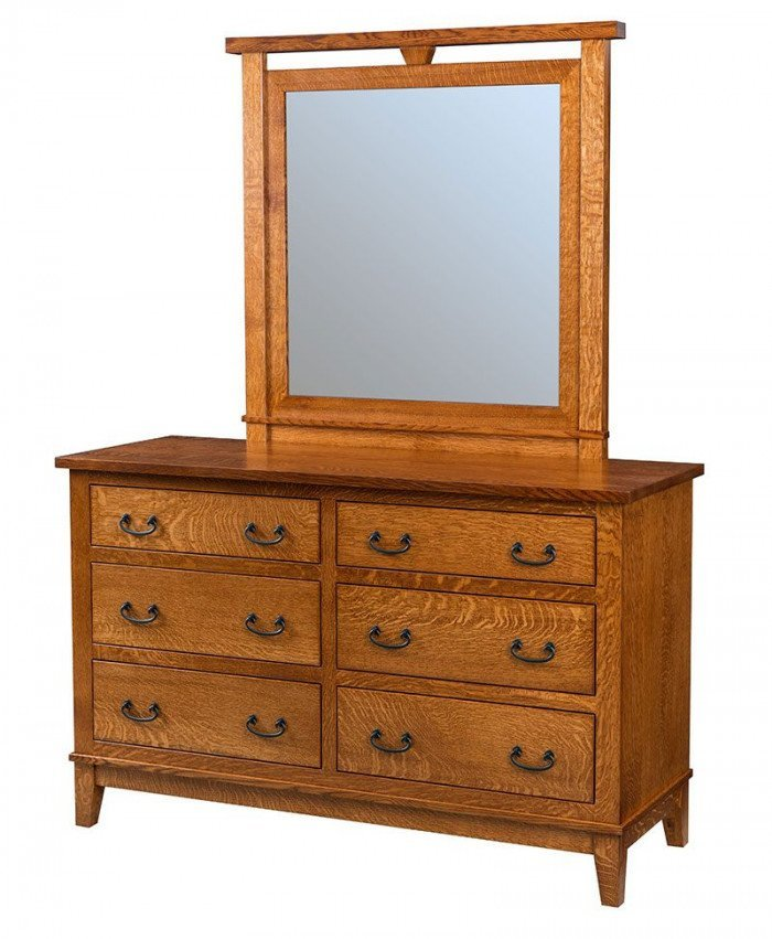Sierra Mission 6 Drawer Dresser with Mirror