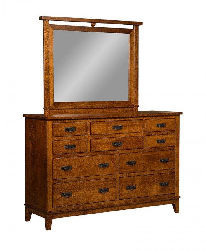 Sierra Mission 10 Drawer Dresser with Mirror