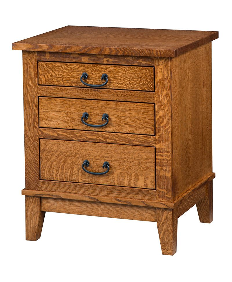 Sierra Mission 3 Drawer Nightstand